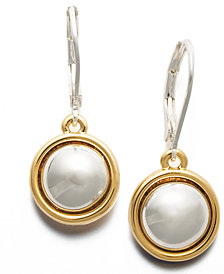 Lauren Ralph Lauren Two Tone Circle Drop Earrings