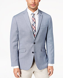 Kenneth Cole Reaction Men's Slim-Fit Stretch Blue/White Mini-Grid Sport Coat, Online Only
