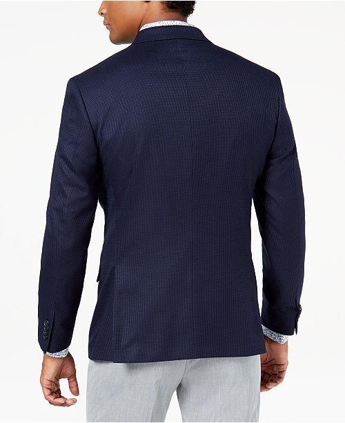 688f5bef5cb2 Kenneth Cole Reaction Men s Slim-Fit Stretch Navy Blue Pin-Dot Sport Coat,  Online Only - Blazers   Sport Coats - Men - Macy s