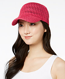 I.N.C. Crochet Packable Baseball Cap, Created for Macy's