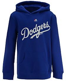 Majestic Los Angeles Dodgers Wordmark Hoodie, Big Boys (8-20)