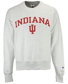 Champion Men's Indiana Hoosiers Reverse Weave Crew Sweatshirt