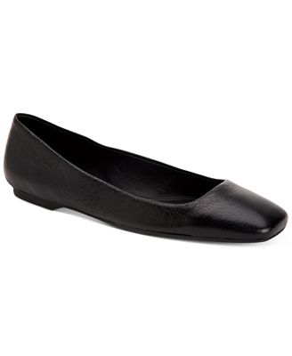 Calvin Klein Collection Patent Leather Square-Toe Flats
