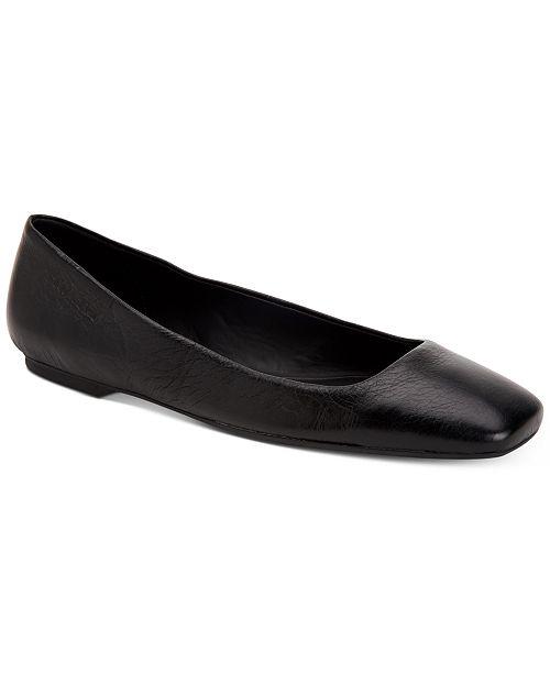 f57a7f2e6028 Calvin Klein Women s Square-Toe Enith Flats   Reviews - Flats ...