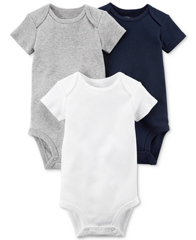 Carters Little Planet Organics 3-Pack Cotton Bodysuits, Baby Boys