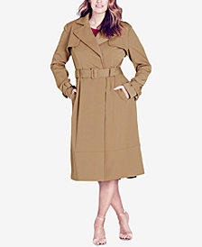 City Chic Trendy Plus Size Trench Coat