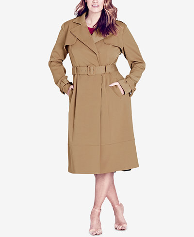 City Chic Trendy Plus Size Trench Coat
