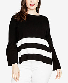 RACHEL Rachel Roy Trendy Plus Size Tie-Back Sweater, Created for Macy's