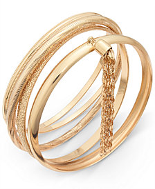 Thalia Sodi Gold-Tone 5-Pc. Set Chain Tassel Bangle Bracelets, Created for Macy's