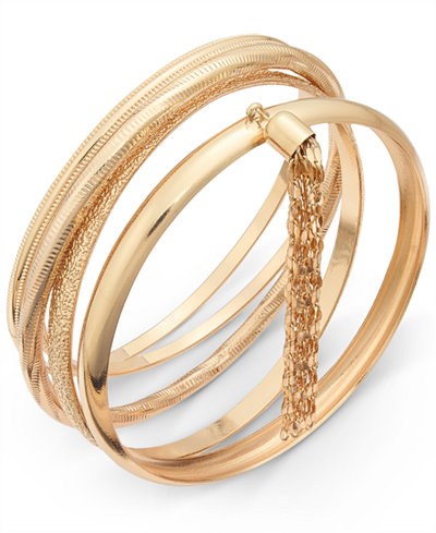 gold set bangles bracelets bangle from s macy of pin bracelet