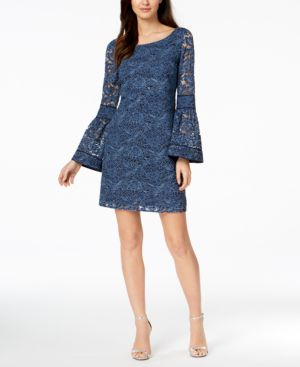 Laundry by Shelli Segal Lace Bell-Sleeve Shift Dress 5633218