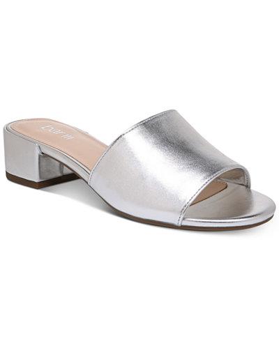 Bar III Jane Block-Heel Slide Sandals, Created for Macy's