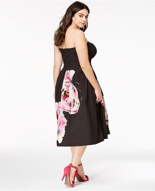 City Chic Trendy Plus Size Strapless Midi Dress & Reviews ...