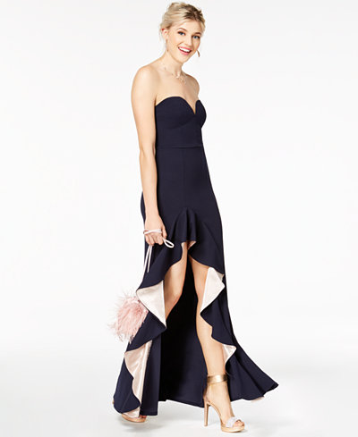 Sequin Hearts Juniors' Ruffled Strapless Gown, a Macy's Exclusive Style