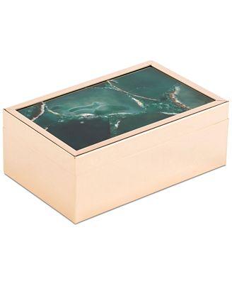Small Decorative Box Delectable Zuo Green Faux Stone Small Decorative Box   Macy's Inspiration Design