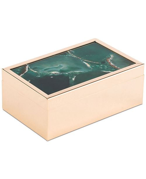 Zuo Green Faux Stone Small Decorative Box