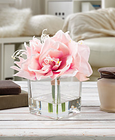 Pure Garden Pink Lily Floral Arrangement with Vase