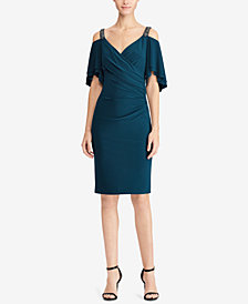 Lauren Ralph Lauren Cutout-Shoulder Jersey Dress