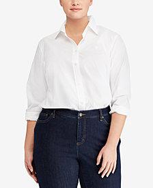Lauren Ralph Lauren Plus Size Straight Fit Shirt