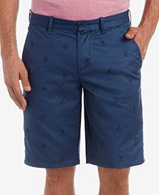 "Lacoste Men's LIVE Embroidered Stretch Twill Bermuda 11"" Shorts"