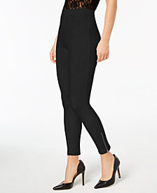 HUE® Women's  Simply Stretch Ankle-Zip Leggings