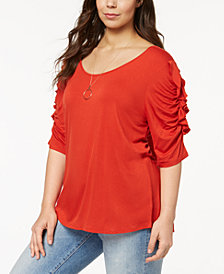 Love Scarlett Trendy Plus Size Ruffled Top