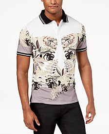 Just Cavalli Men's Slim-Fit Printed Polo