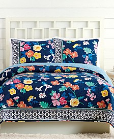 Maybe Navy Twin Quilt