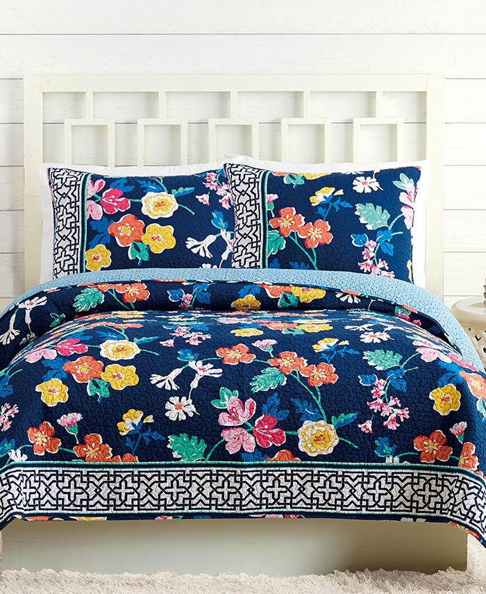 Jessica Simpson - Maybe Navy Twin Quilt