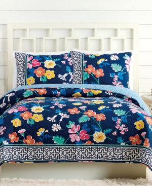 Vera Bradley Maybe Navy Twin Quilt Bedding 5611981