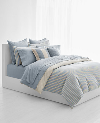 In Belk's collection of Ralph Lauren bedding and bedding sets, you'll find everything you need to create a luxurious bedding look. Keep warm in a Ralph Lauren comforter or comforter set, rest your head on a cozy Ralph Lauren pillow, and snuggle up in Ralph Lauren bedding sheets.