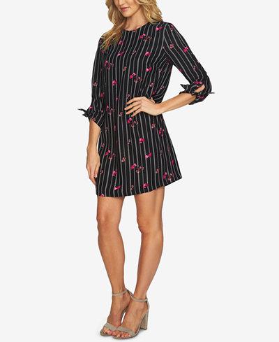 CeCe Tie-Sleeve Shift Dress