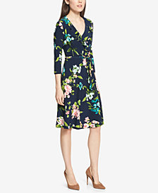 Tommy Hilfiger Floral-Print Wrap Dress