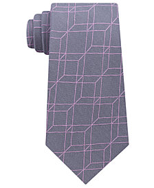 Michael Kors Men's Fineline Optic Geometric Tie
