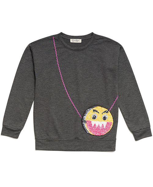 Jessica Simpson Emoji Purse-Pocket Sweatshirt, Big Girls