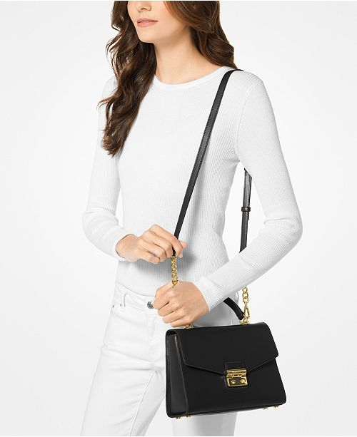 1bbdedb968293 Michael Kors Sloan Medium Top-Handle Satchel   Reviews - Handbags ...