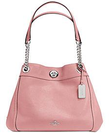 COACH Turnlock Edie Shoulder Bag in Pebble Leather