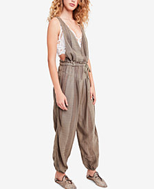 Free People All Natural Plunging Jumpsuit