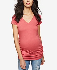 Motherhood Maternity Ruched Jersey T-Shirt
