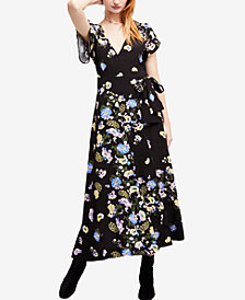 Free People Gorgeous Jess Floral-Print Wrap Dress