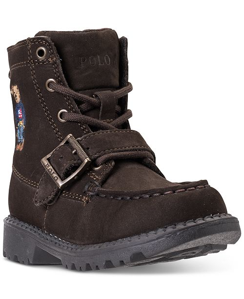 b43968fb0018 ... Polo Ralph Lauren Toddler Boys  Ranger High II Bear Boots from Finish  ...