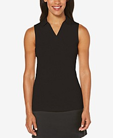 Sleeveless Mesh Golf Polo