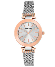 Anne Klein Women's Stainless Steel Mesh Bracelet Watch 30mm