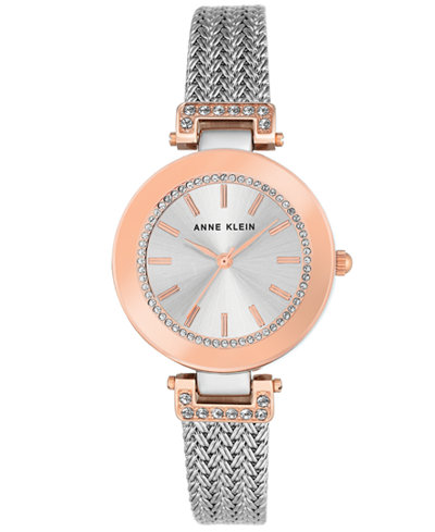 Anne Klein Women's Stainless Steel Mesh Bracelet Watch 30mm