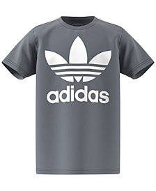 adidas Originals Logo-Print Cotton T-Shirt, Big Girls