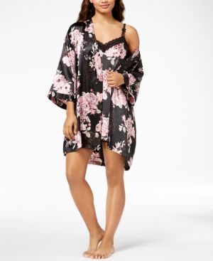 Thalia Sodi Floral-Print Wrap Robe, Created for Macy's 5537965
