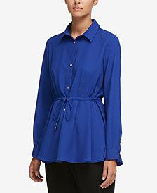 DKNY Drawstring Shirt, Created for Macy's