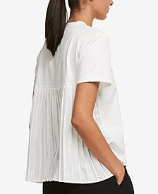 DKNY Pleated-Back T-Shirt, Created for Macy's
