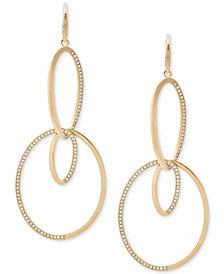 Michael Kors Pavé Double-Loop Drop Earrings