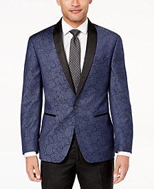 Ryan Seacrest Distinction™ Men's Modern-Fit Navy Paisley Dinner Jacket, Created for Macy's